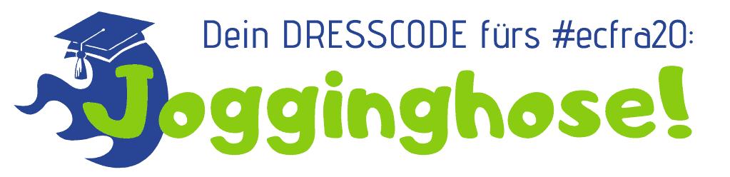 Dein DRESSCODE fürs #ecfra20: Jogginghose!